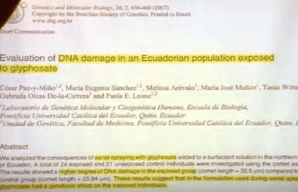 DNA-Schäden durch Glyphosat